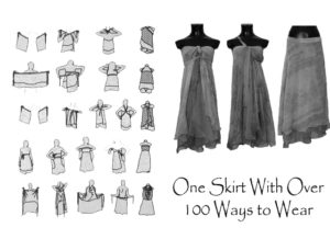 ways to wear wrap skirt